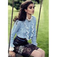 autumn coffee - Autumn Blue Light Coffee Ruffles Autumn Wome s Pullovers Brand Same Style Women s Sweaters