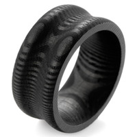 Wholesale New item Groove Solid circuits of growth rings Pattern Pure Carbon Fiber Ring Men s Wedding Bands