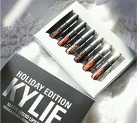 Wholesale New Christmas Kylie Holiday Edition Mini Matte Liquid Lipstick Set LTD Collection minis Kylie Cosmetics HOLIDAY EDITION Lip Gloss kits
