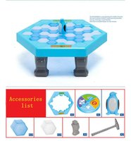 Wholesale Funny Toy Penguin Trap Learning Funny Game Interactive Ice Breaking Table Buidling Blocks Toy Penguin Trap Education Toy for Kids