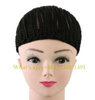 Wholesale Easy cornrow croceht wig black high quality braided cap g black synthetic made for crochet braids weaves hair protectif style for female