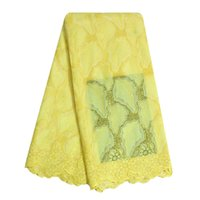 Wholesale Bestway Women Nigerian High Quality Cotton Swiss Voile African Lace Fabrics Polished Cotton Eyelet Lace With Stone