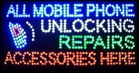 Wholesale business led cell phone repairs direct selling led sign X15 inch semi outdoor flashing led signs