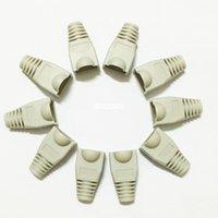 Wholesale 1000pcs RJ45 Cap Connector CAT5E CAT6 RJ45 Plug Ethernet Network Cable Strain Relief Boots Socket Caps Gray Color
