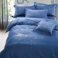 Printed american machine products - embroidery flat sheet bedding set four pieces per set home textile products inch bed and inch bed brue xingkong designs