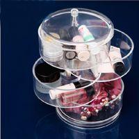 acrylic desk organizers - New Multi Function Clear Transparent Acrylic Makeup Organizer Box YJY Women Jewelry Display Holder Desk Makeup Organizer Case