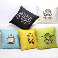 bedroom chairs sale - 2017 Hot Sale Cartoon Star Wars Linen Throw Pillow Case for Office bedroom chair Seat Cushion Cm