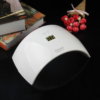 Wholesale Newest SUN9S W LED Nail Dryer with LCD Timer and Leds Ultraviolet Nail Lamp for Nails UV Gel Polish Nail Art