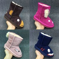 Wholesale Best Sellers Wool one boy girl Snow boots Childrens Shoes waterp roof warm children s boots with small animal