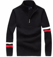 Wholesale Cashmere Jerseys Hombre - Mens sweaters luxury sweater jersey hombre jumper polo sup pullover cashmere wool casual long sleeve