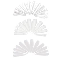 Wholesale Artificial Nail Tips Stiletto Sharp Acrylic Artificial False Fake White creamy white transparent Nail Art Tips
