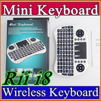 Wholesale 25X Wireless Keyboard Rii Mini i8 Air Mouse Multi Media Player Remote Control Touchpad for Android Smart TV Box MXIII MXQ MX3 Mini PC B FS
