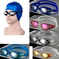 Wholesale Men and Women Swim Eyewear Anti Fog UV Protection Swim Glasses Professional Electroplate Waterproof Swim Goggles