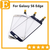 Wholesale Touch Screen Digitizer For Samsung Galaxy S6 Edge G9250 G925F G925V G925P with Logo Front Touch Sensor Glass Screen Lens Panel Replacement