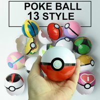Wholesale poke go plastic poke ball Greate ball Ultra ball Master ball style High imitation cm Pikachu kids toys