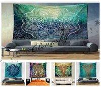 Wholesale Fedex DHL Free Designs cm Bohemian Mandala Beach Tapestry Hippie Throw Yoga Mat Towel Indian Polyester Beach Shawl Bath Towel Z678