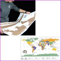 Wholesale 88 x cm Travel Scratch Off Map Personalized World Map Poster National geographic map of the world Home Decor