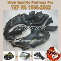 Wholesale High quality all black fairing kits Fit for YAMAHA YZFR6 YZF R6 YZFR6 fairings c9h3