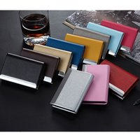 Wholesale New Arrival High Grade Stainless Steel Women Men Credit Business ID Name Card Holder Metal Bank Card Case Box