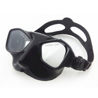 Wholesale wimming Diving Diving Masks Extreme low volume spearfishing diving mask black silicone skirt strap tempered lens freediving mask adult sp
