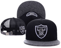 Wholesale top Sale Raiders Oakland Snapback Caps Adjustable Football Snap Back Hats Hip Hop Snapbacks High Quality Players Sports