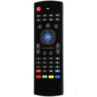 Wholesale Mini Wireless Keyboard Air Mouse Remote G Sensing Gyroscope Sensors Combo Voice Mic MX3 M For S905X S905 S912 MXQ Android TV BOX