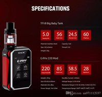 Wholesale Electronic Cigarette Smok G Priv Kit G Priv Mod fit for TFV8 Big Baby Tank ml Capacity Stand out quot Touch Screen