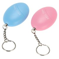 Wholesale Personal Alarms Bell Tama Loud Safe Stable Decibels Mini Portable Keychain Football Panic Anti Rape Attack Safety Security F16120705