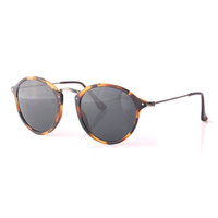 eye glasses - Limited Top Quality Round Sunglasses Women Men Retro Brand Designer cat eye Fleck Tortoise Black Frame Green lens mm with case