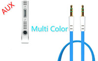 Wholesale Audio Car Aux Cable mm Male stereo Gold Plate for mp3 mp4 Speaker for Iphone s s c for phone