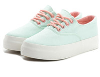 Wholesale 2017 spring men and women casual shoes ladies lace up canvas shoes