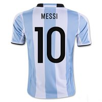 Wholesale Argentina Soccer Jersey MESSI Home Season Soccer Jerseys DI MARIA AGUERO Thai Quality Argentina Football Shirt Jersey