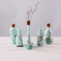 achat en gros de ceramic and porcelain vase-Celadon vase peint vase en porcelaine petite céramique en porcelaine créative Mini fleur hydroponique ornements
