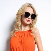 allied glass - Brand Designer Sunglasses Women Round New Fashion Retro Ally Frame Glasses Cat Eye Vintage Sunglasses Oculos de sol