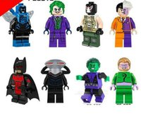 al por mayor juguete rayos-8 piezas Superhero bloques de construcción Black manta ray Riddle hombre La bestia Batman Minifigure Rompecabezas Ensamblado Juguetes Ladrillos Juguetes