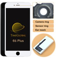 assembly with sensors - for Apple iphone S plus lcd screen assembly with frame touch screen free dhl camera ring ear mesh sensor ring