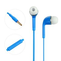 Wholesale 3 mm Colorful In Ear Earphone Headphone with Volume Control and MIC Headset Earbuds For Samsung Galaxy S6 S5 S4 Note