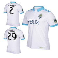 56d4a29f2 Soccer Men Short NEW 2017 18 Seattle Sounders away white Soccer jersey 2017  thai quality DEMPSEY