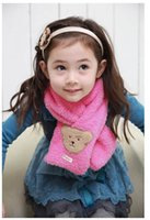Wholesale New Children s Scarves For Fall Winter Cute Baby Bear Plush Warm Scarf Winter Scarf Package Mail