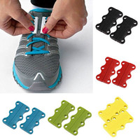 Wholesale 1 Pair Magnetic Casual Shoe Buckles Closure No Tie Shoelace Sneaker Shoe Laces by ePacket or Registered