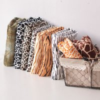 Wholesale Zakka Short Plush Wool Fabric Diy Cloth Anaimal Leopard Crocodile Tiger Cow Deer Pattern Fabric Home Decor Sofa Cushion Diy