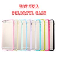 Wholesale For samsung Iphone s Case Mat PC TPU hard Clear Transparent Gel Cover Cases For Iphone Plus IPHONE S Galaxy S7 S6 S6edge s7 edge