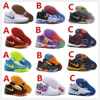 Wholesale 2017 Hot All Color kyrie irving1 Men Basketball Shoes Kyrie Dream Deceptive Red Christmas Basketball Outdoor Sneakers High Quality US