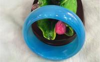 Wholesale Jewelry jade blue agate bracelets bangle charm mm