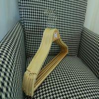 bar top coating - Ecru Premium Natural Wood Clothes Hangers with Non Slip Pants Bar