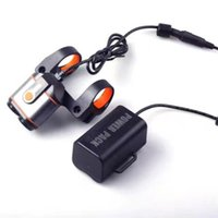 adventure cycling - 6063 T6 Bicycle Headlight Bike Front Lights Cycling Torch Light Battery Pack Cycle Light For Night Riding Adventure
