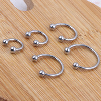Wholesale ring filter Wholesales Mix Size Stainless Steel Hot Sale Nose Body Jewelry Nose Ring Horseshoe Piercing