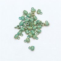bead craft patterns - 20 Tibetan Silver Green Multi Patterned Alloy Loose Spacer Beads Jewelry Craft Findings For DIY Making