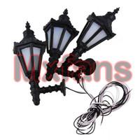 Vente en gros- 10pcs 1:25 LED lampadaire appliques murales Modèle Single Head Tower Shape Metal