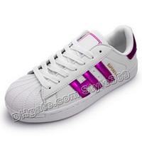 Wholesale Style White Loop Purple Women Casual Shoes Superstar Female Sneakers Men Zapatillas Deportivas Mujer Lovers Sapatos Femininos Size
